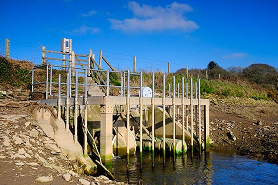 The tidal gate at South Efford Marsh