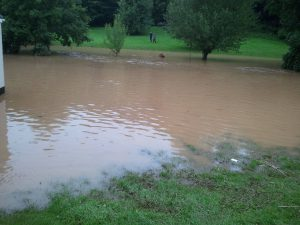 Rectory Lawn flooded in 2012
