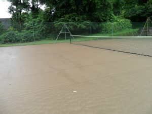 Tennis Court flooded July 2012