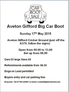 Cricket Club car boot sale poster
