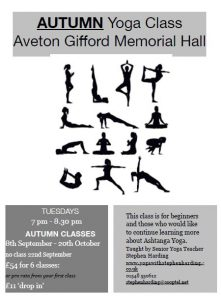 Yoga classes - poster