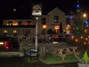 Christmas lighting up at the pub